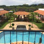 Mombacho Lodge pool and patio in Nicaragua with Trek Safaris